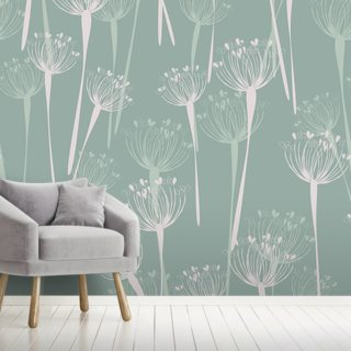 Cow Parsley Mint Wallpaper Wall Murals