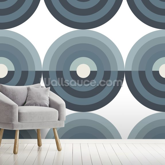 Running Rings mural wallpaper room setting