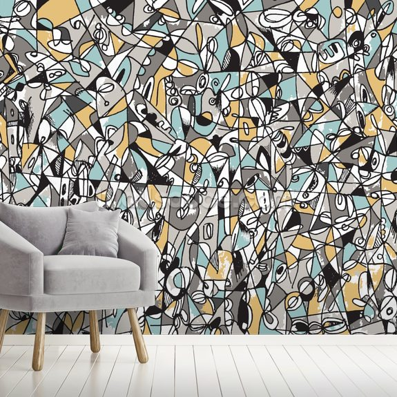 like minded wallpaper mural by mike labriola wallsauce uklike minded mural wallpaper room setting