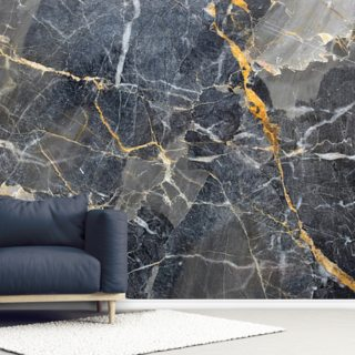 Grey with Gold Marble