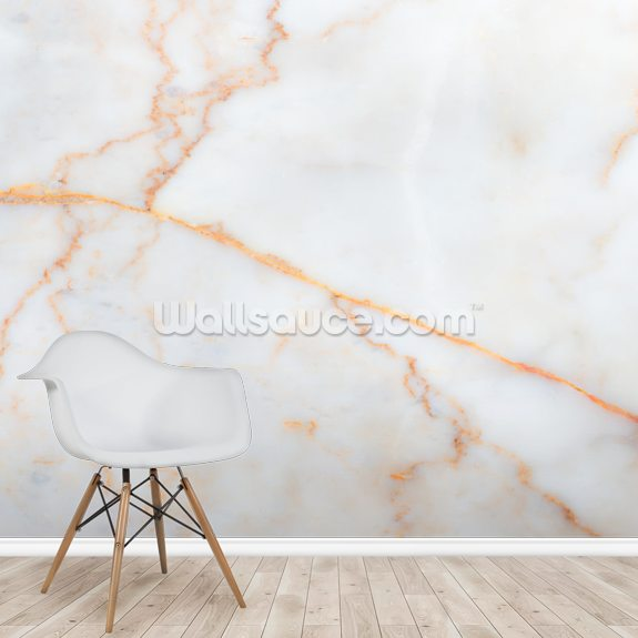 White Marble Texture mural wallpaper room setting