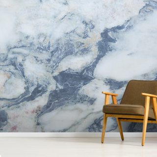 Blue Marble Effect Wallpaper Wall Murals