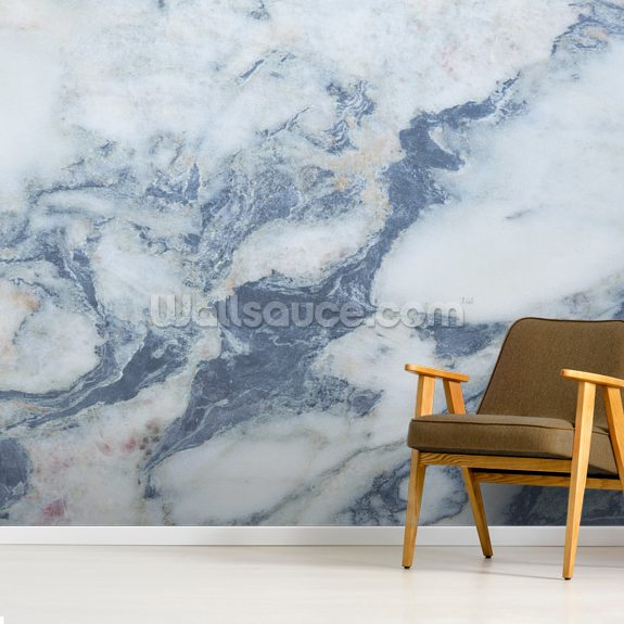Blue Marble Effect wall mural room setting