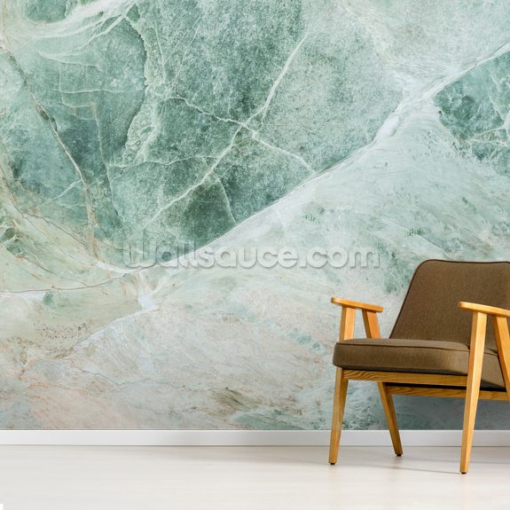 Marble Greens wall mural room setting