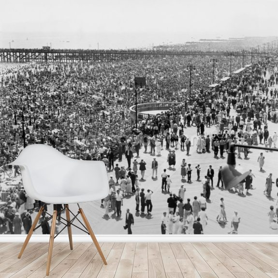 Coney Island on July 4th 1936 wall mural room setting