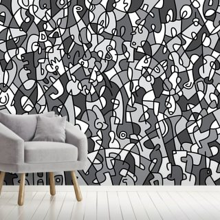 Something's Indistinct Wallpaper Wall Murals