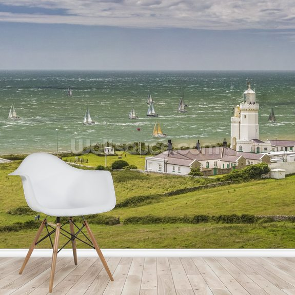 Round The Island Race St Catherine's Lighthouse wallpaper mural room setting