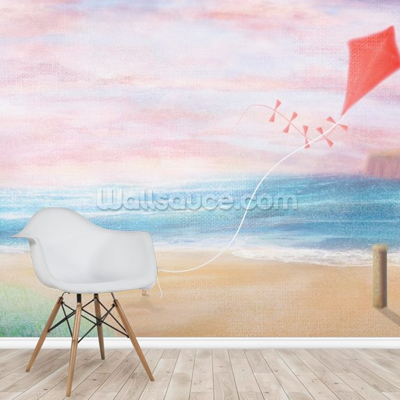 Coastal Sky 3 wall mural room setting