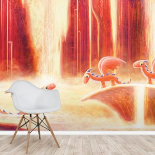 Dragons Bath Wallpaper Wall Murals