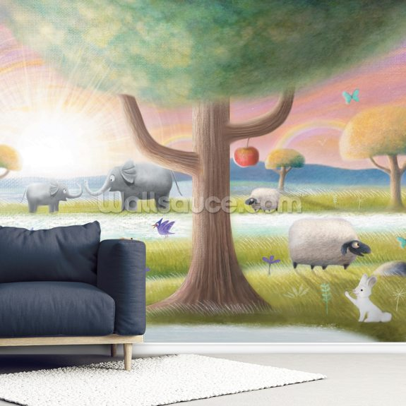 Garden Of Eden wallpaper mural room setting