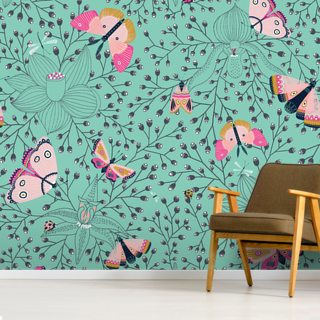Butterflys and Bugs Wallpaper Wall Murals