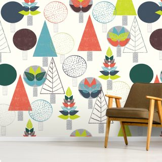 Autumn Forest Wallpaper Wall Murals