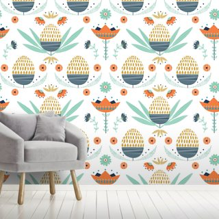 Floral 2 Wallpaper Wall Murals