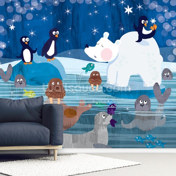Arctic Puzzle wallpaper mural room setting
