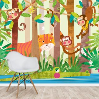 Monkeys Wallpaper Wall Murals