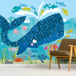 Blue Whale Wallpaper Wall Murals