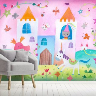 Fairy Castle Wallpaper Wall Murals