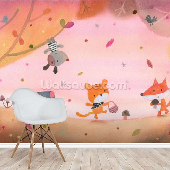 Summer Evening wall mural room setting