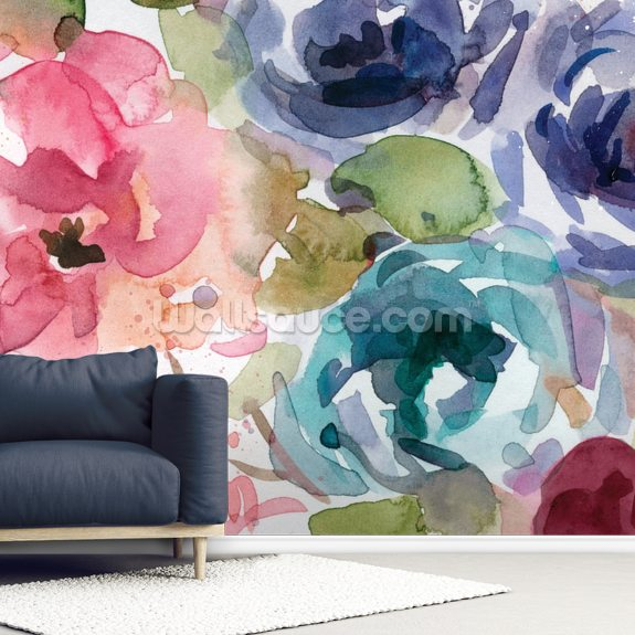 Macro Garden 2 wall mural room setting