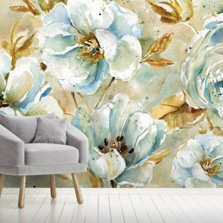 Watercolor Floral Rug