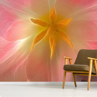 Light Inside Pink Wallpaper Wall Murals