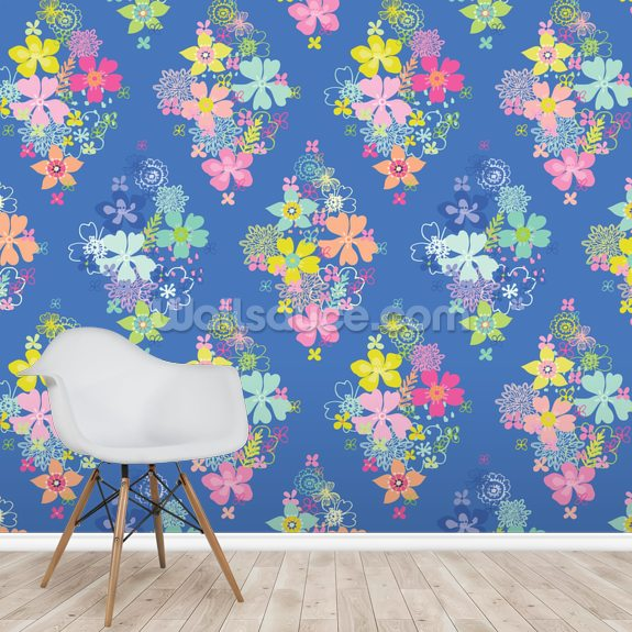 Owls And Flowers wall mural room setting
