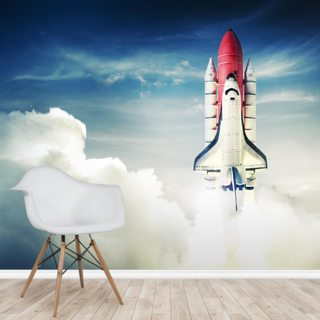 Space Shuttle against Light Sky Wallpaper Wall Murals