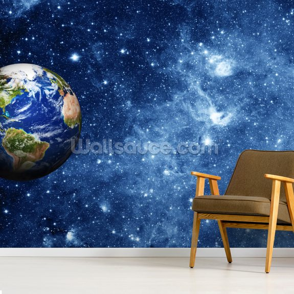 Planet Earth In Space Mural Wallsauce No