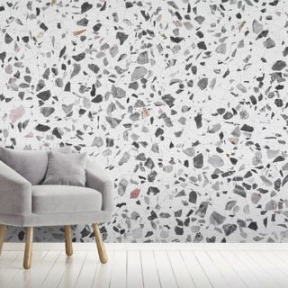 Grey and White Wallpaper Wall Murals