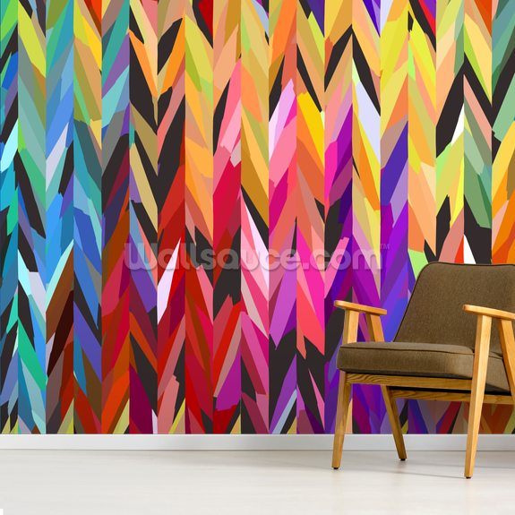 Burst of Colour wall mural room setting