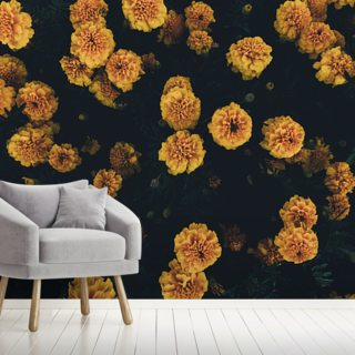 Dark Botanics Floral Wallpaper