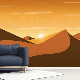 Desert Sunrise Wallpaper Wall Murals