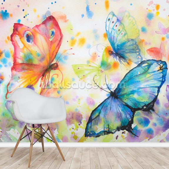 Flying Butterflies Wallpaper Wallsauce Au