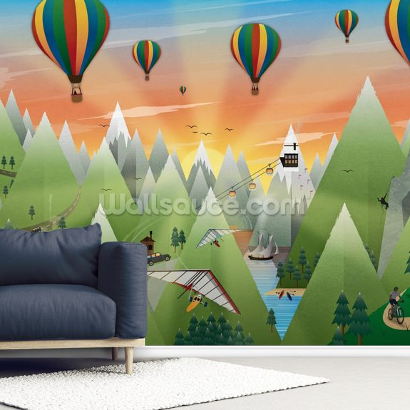 Adventure Land wall mural room setting