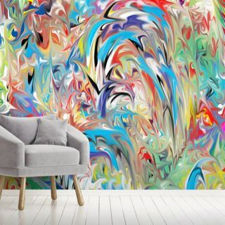 Color Fountain Wallpaper Wall Murals