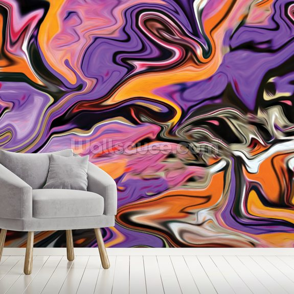 Expressions mural wallpaper room setting