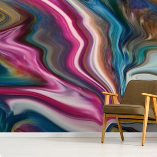 Rainbow lightning Wallpaper Wall Murals