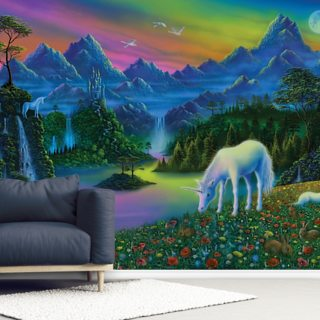 Land of the Unicorn Wallpaper Wall Murals