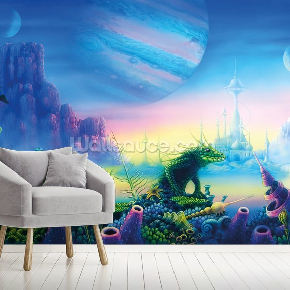 Deep Range mural wallpaper room setting