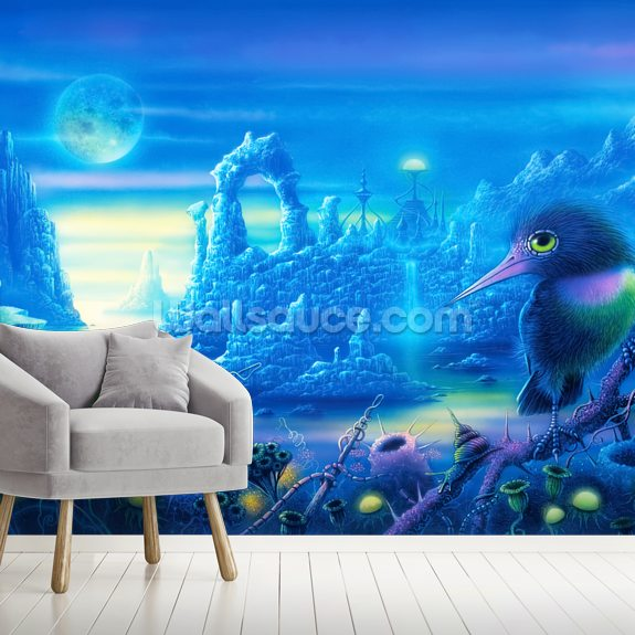 Expedition to Earth wall mural room setting