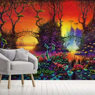 Red Jungle Wallpaper Wall Murals