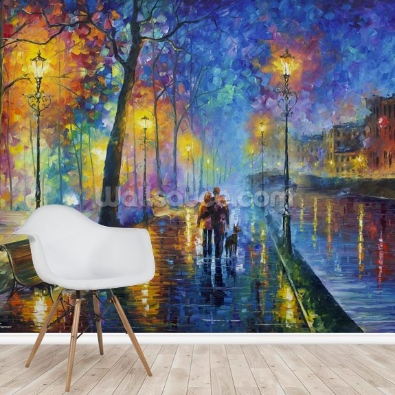 Melody of the night mural wallpaper room setting
