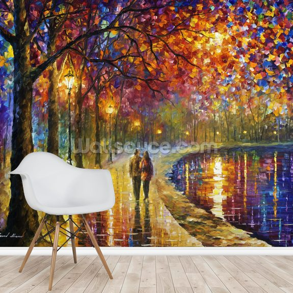 Spirit by the lake wall mural room setting