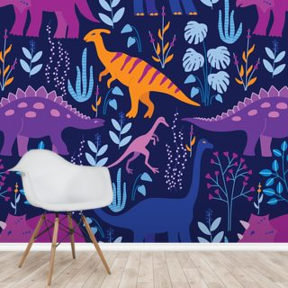 Dinosaurs Dark Wallpaper Wall Murals
