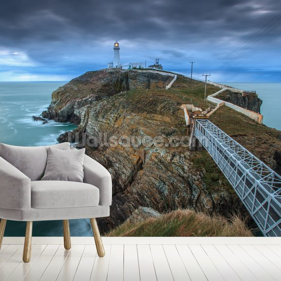 Southstack Lighthouse mural wallpaper room setting