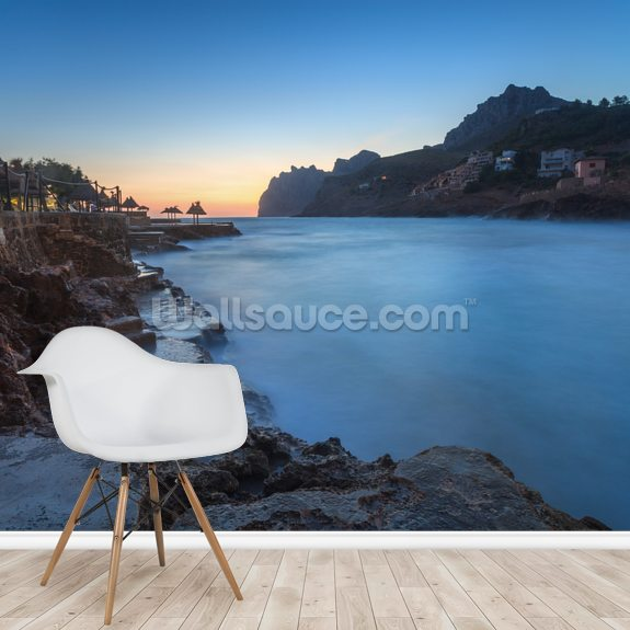 Cala San Vincente Sunrise mural wallpaper room setting