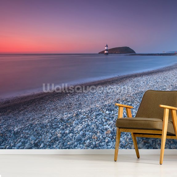 Penmon Sunset wall mural room setting