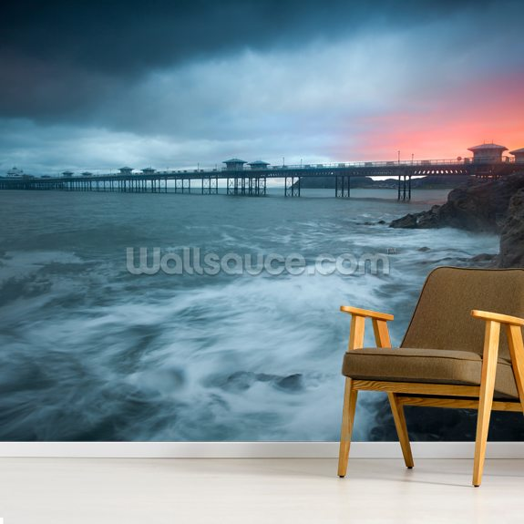 Llandudno Sunrise wallpaper mural room setting