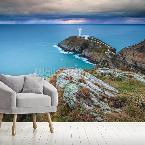 Southstack Approaching Storm mural wallpaper room setting