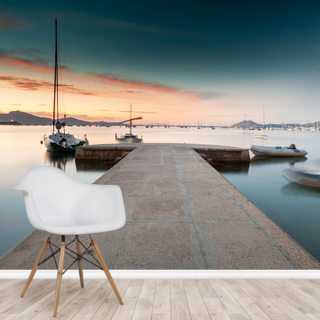 Puerto Pollensa Jetty Wallpaper Wall Murals